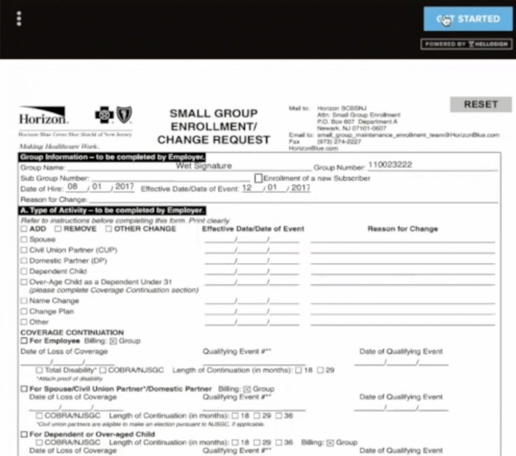 Carrier Enrollment Application Forms