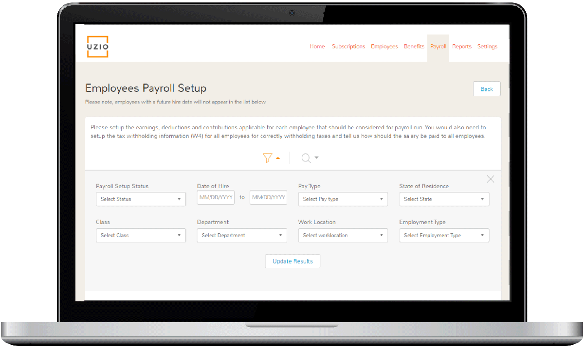 Employees Payroll Setup