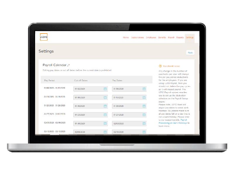 Payroll Calendar Management Solution