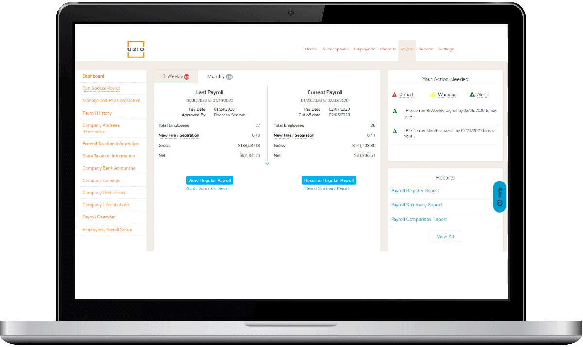 Payroll Management Dashboard