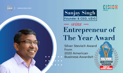 uzio-ceo-sanjay-singh-honored-as-entrepreneur-of-the-year-wins-silver-stevie-award-in-2020-american-business-awards